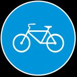 biciklistička staza znak