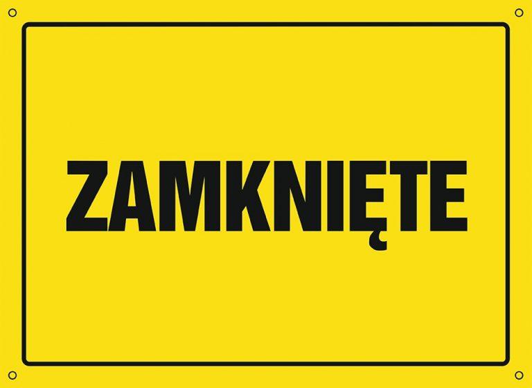 zatvoreno znak poljski