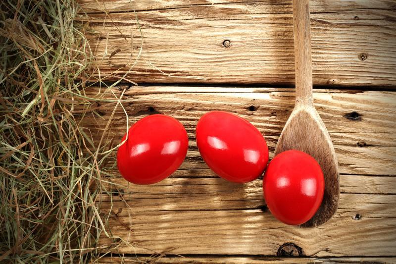 crvena uskrsnja jaja