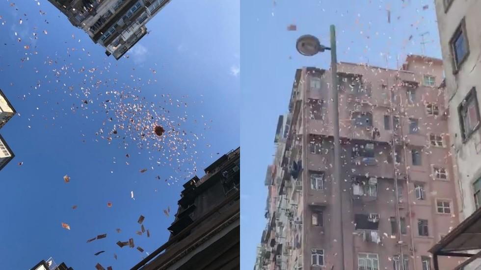 U HONG KONGU PARE PADALE SA NEBA (video)